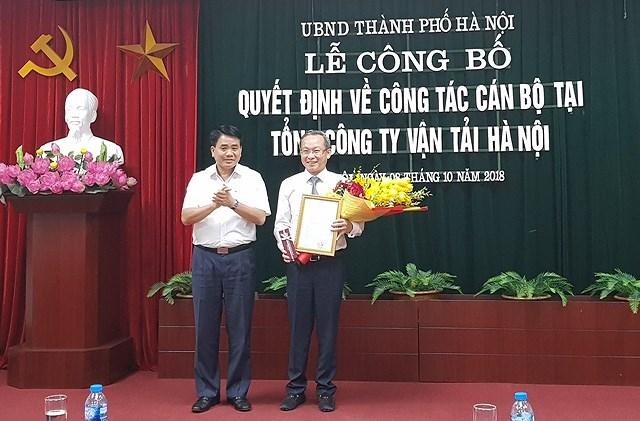 Trao quyết định bổ nhiệm Chủ tịch Tổng Công ty vận tải Hà Nội Ảnh 1