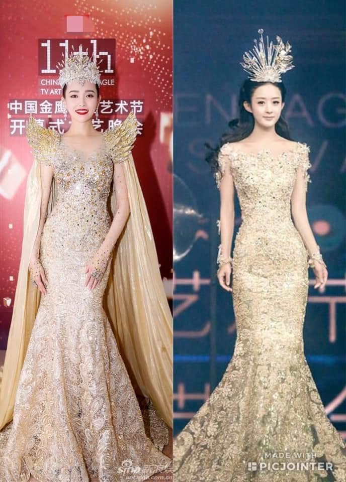 Dù lộng lẫy nhưng trang phục Nữ thần Kim Ưng Địch Lệ Nhiệt Ba vẫn chưa bằng Triệu Lệ Dĩnh và Đường Yên? Ảnh 15