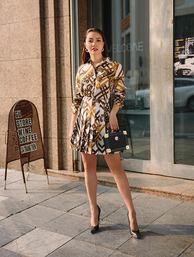 Nguyễn Ngọc Anh ngọt ngào với váy áo nữ tính đón gió lạnh cuối thu Ảnh 11