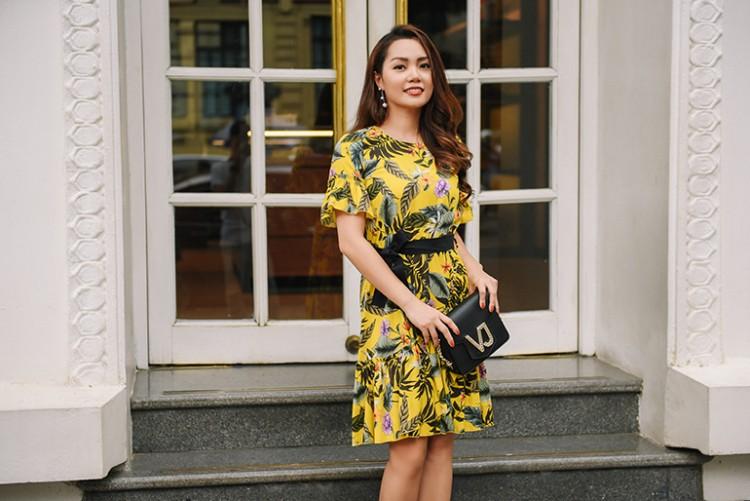 Nguyễn Ngọc Anh ngọt ngào với váy áo nữ tính đón gió lạnh cuối thu Ảnh 7