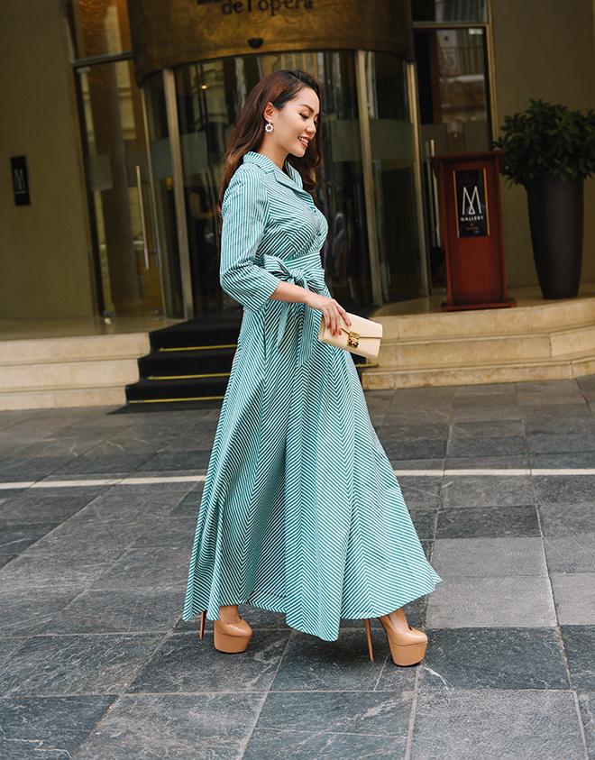 Nguyễn Ngọc Anh ngọt ngào với váy áo nữ tính đón gió lạnh cuối thu Ảnh 6