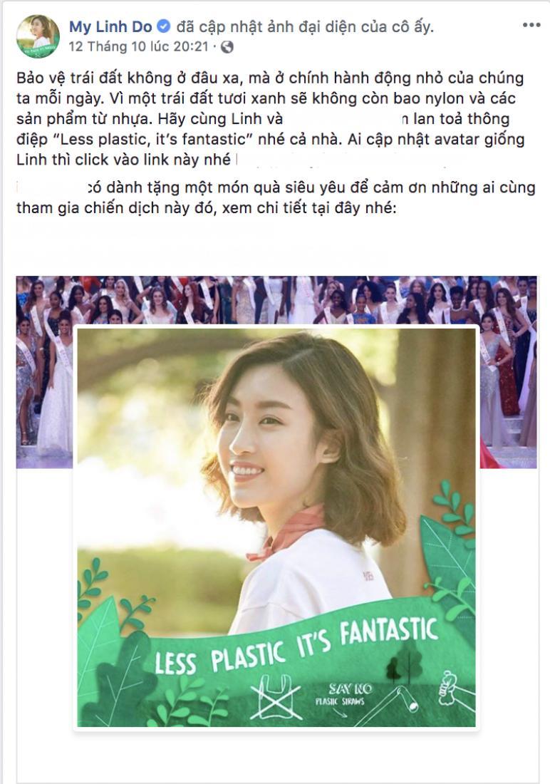 Hoa hậu Đỗ Mỹ Linh cùng loạt sao Việt đổi ảnh avatar kêu gọi bảo vệ môi trường Ảnh 1
