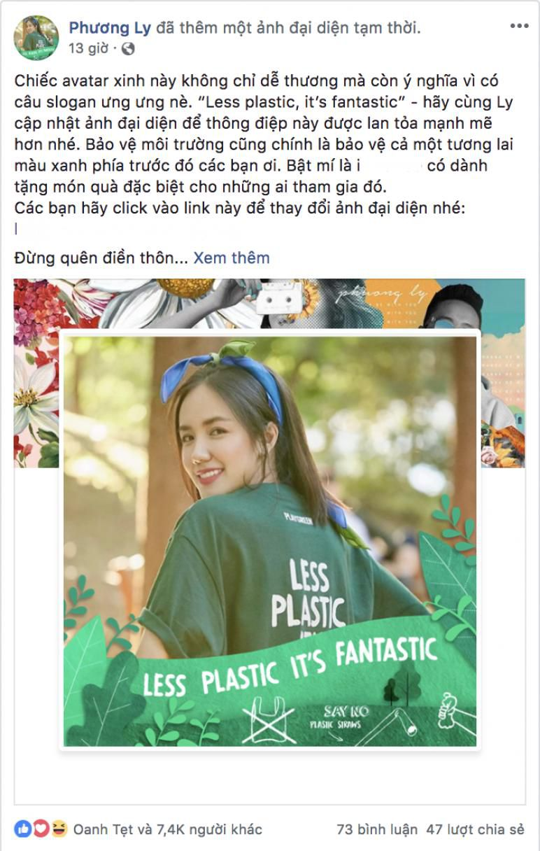 Hoa hậu Đỗ Mỹ Linh cùng loạt sao Việt đổi ảnh avatar kêu gọi bảo vệ môi trường Ảnh 4