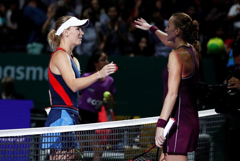 Wozniacki thắng trận quyết đấu với Kvitova tại WTA Finals Ảnh 1