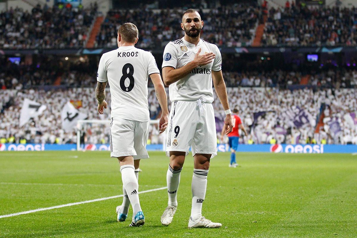 Real Madrid vs Viktoria Plzen (1-0, H2): Benzema đánh đầu mở tỷ số Ảnh 2