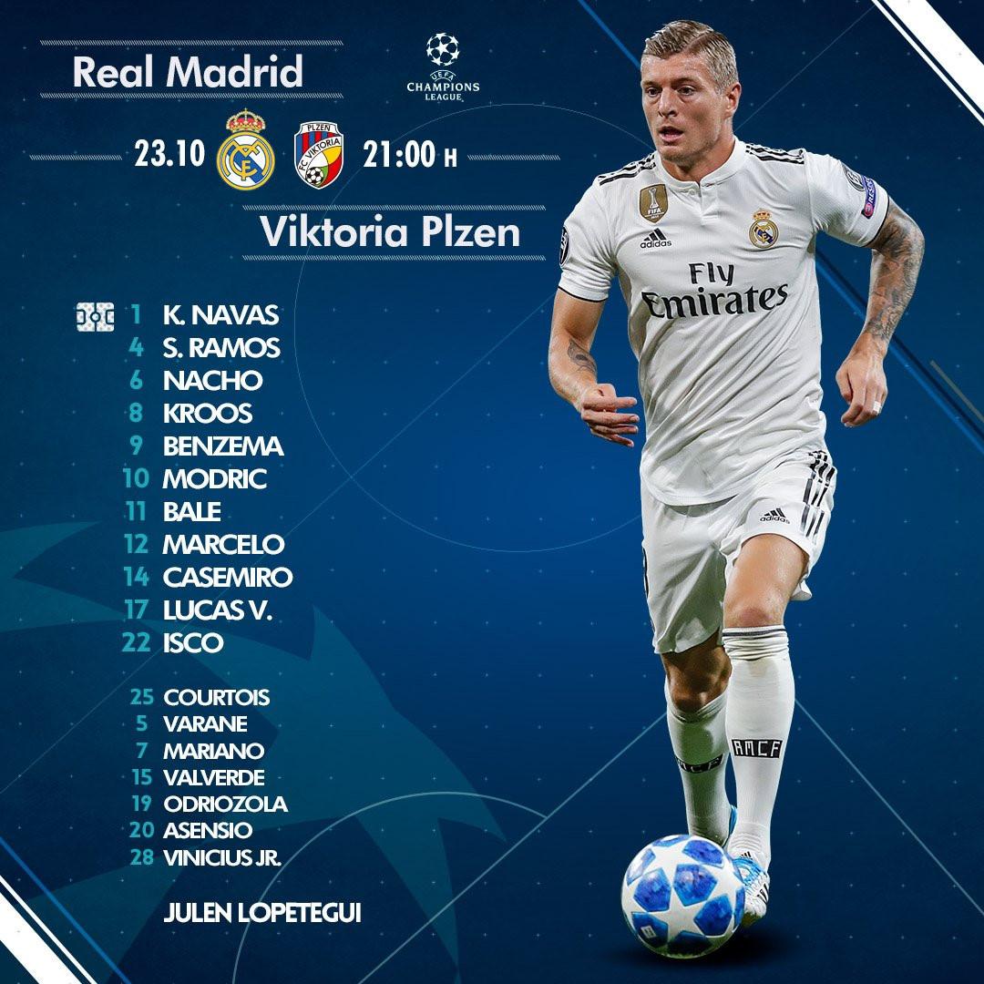 Real Madrid vs Viktoria Plzen (1-0, H2): Benzema đánh đầu mở tỷ số Ảnh 13