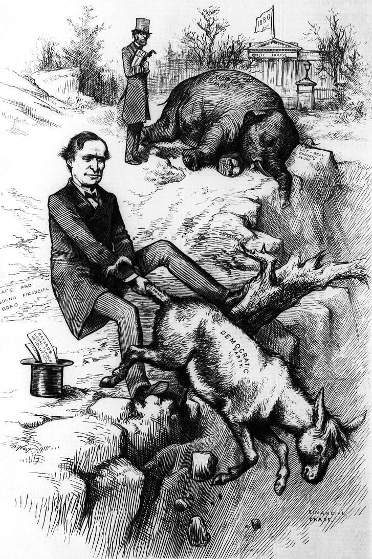 Vì sao biểu tượng của đảng Dân chủ là con lừa còn đảng Cộng hòa là con voi? Ảnh 4