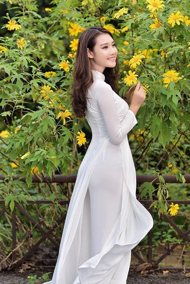 Thiếu nữ đất Cố đô khoe sắc bên hoa dã quỳ đầu mùa Ảnh 12