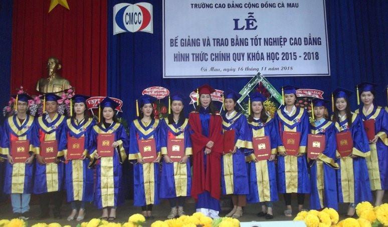 Cà Mau: 240 sinh viên Trường CĐ Cộng đồng nhận bằng tốt nghiệp Ảnh 1