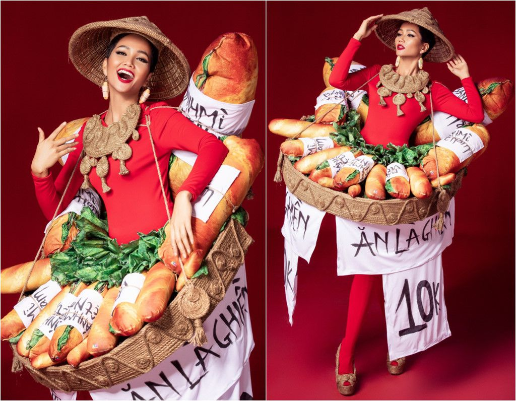 H'Hen Niê công bố quốc phục là váy bánh mỳ từng gây tranh cãi Ảnh 4