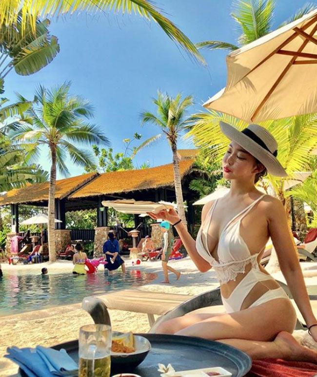 'Nữ hoàng bikini mạng xã hội Hàn Quốc' không ngán kiểu áo tắm dù là táo bạo nhất Ảnh 11