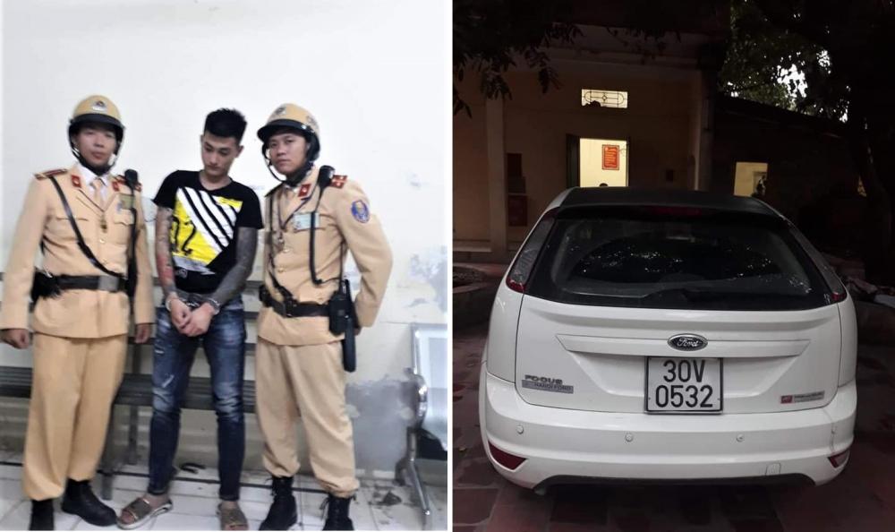 CSGT Hà Nội truy bắt nhóm tín dụng đen xiết nợ, bắt giữ người trái phép Ảnh 1