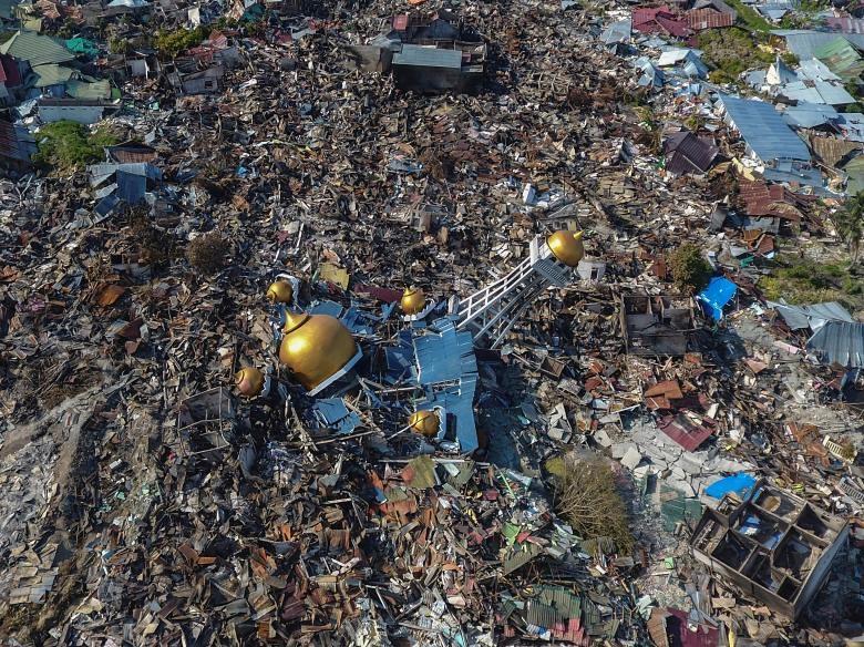 Những bức ảnh ám ảnh chụp thiên tai và hỏa hoạn từ trên không năm 2018 Ảnh 2