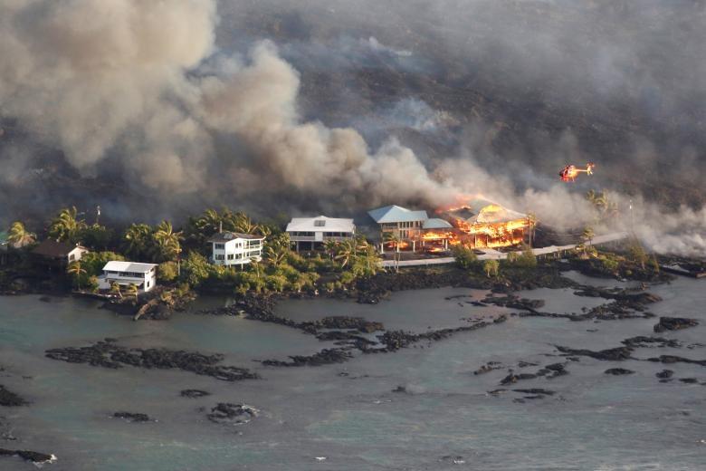 Những bức ảnh ám ảnh chụp thiên tai và hỏa hoạn từ trên không năm 2018 Ảnh 8