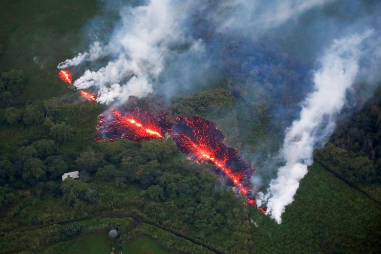 Những bức ảnh ám ảnh chụp thiên tai và hỏa hoạn từ trên không năm 2018 Ảnh 1