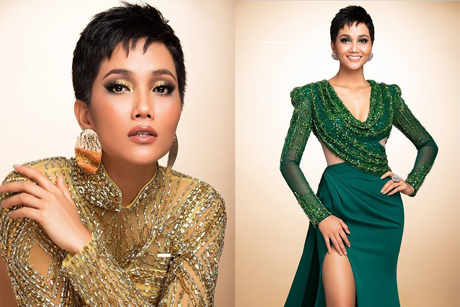 H'Hen Niê thử váy dạ hội, đẹp bí ẩn như nữ hoàng Ai Cập cổ đại Ảnh 1