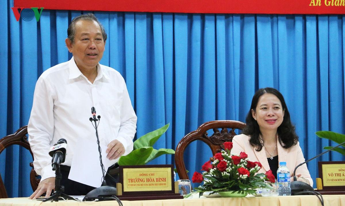 Phó Thủ tướng Thường trực Trương Hòa Bình làm việc tại An Giang Ảnh 1