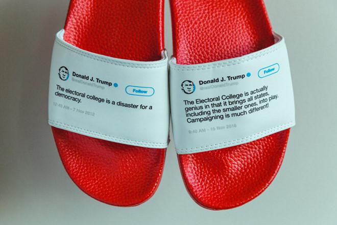 Thành triệu phú đô la nhờ bán dép in... twitter của ông Trump Ảnh 2
