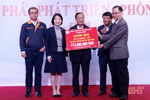 Formosa Hà Tĩnh trao tài trợ công ích với số tiền 2,2 tỷ đồng Ảnh 1