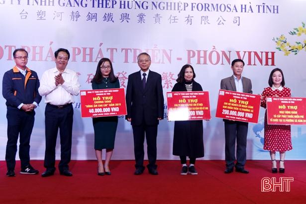 Formosa Hà Tĩnh trao tài trợ công ích với số tiền 2,2 tỷ đồng Ảnh 3