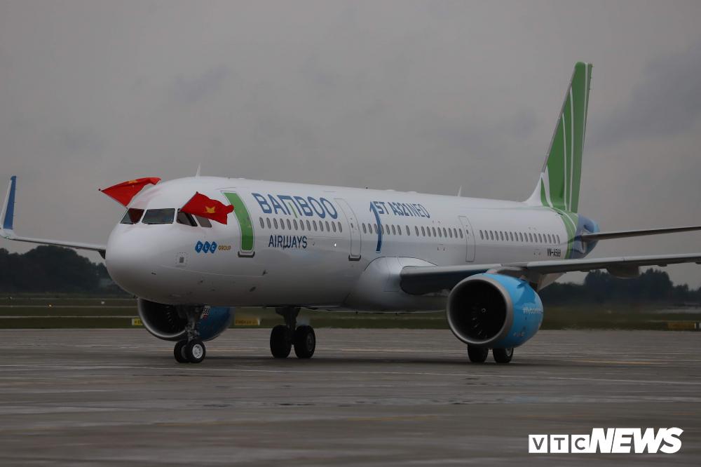 Cận cảnh máy bay Airbus A321NEO của Bamboo Airways Ảnh 2