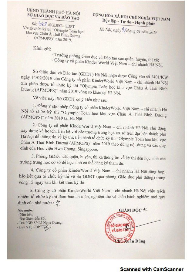 Kỳ lạ, Giám đốc Sở GDĐT Hà Nội trả lời công văn trong... tương lai Ảnh 1