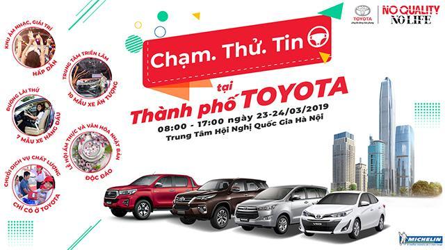 Toyota tổ chức để người tiêu dùng lái thử tất cả các dòng xe tại Hà Nội Ảnh 1