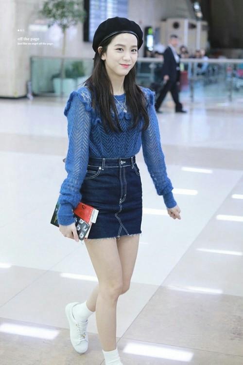 Thời trang sân bay đơn giản nhưng đầy cuốn hút của Jisoo - Black Pink Ảnh 9