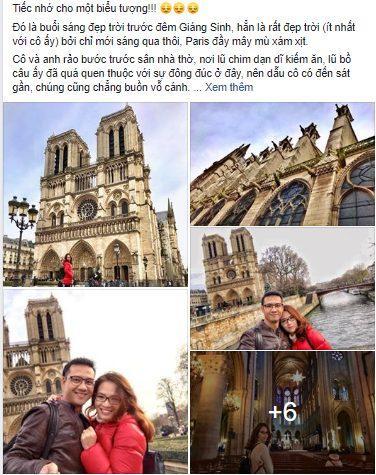 Hàng loạt giới trẻ Việt Nam đăng ảnh check-in Nhà thờ Đức Bà Paris, bày tỏ sự nuối tiếc trước vụ cháy kinh hoàng Ảnh 4