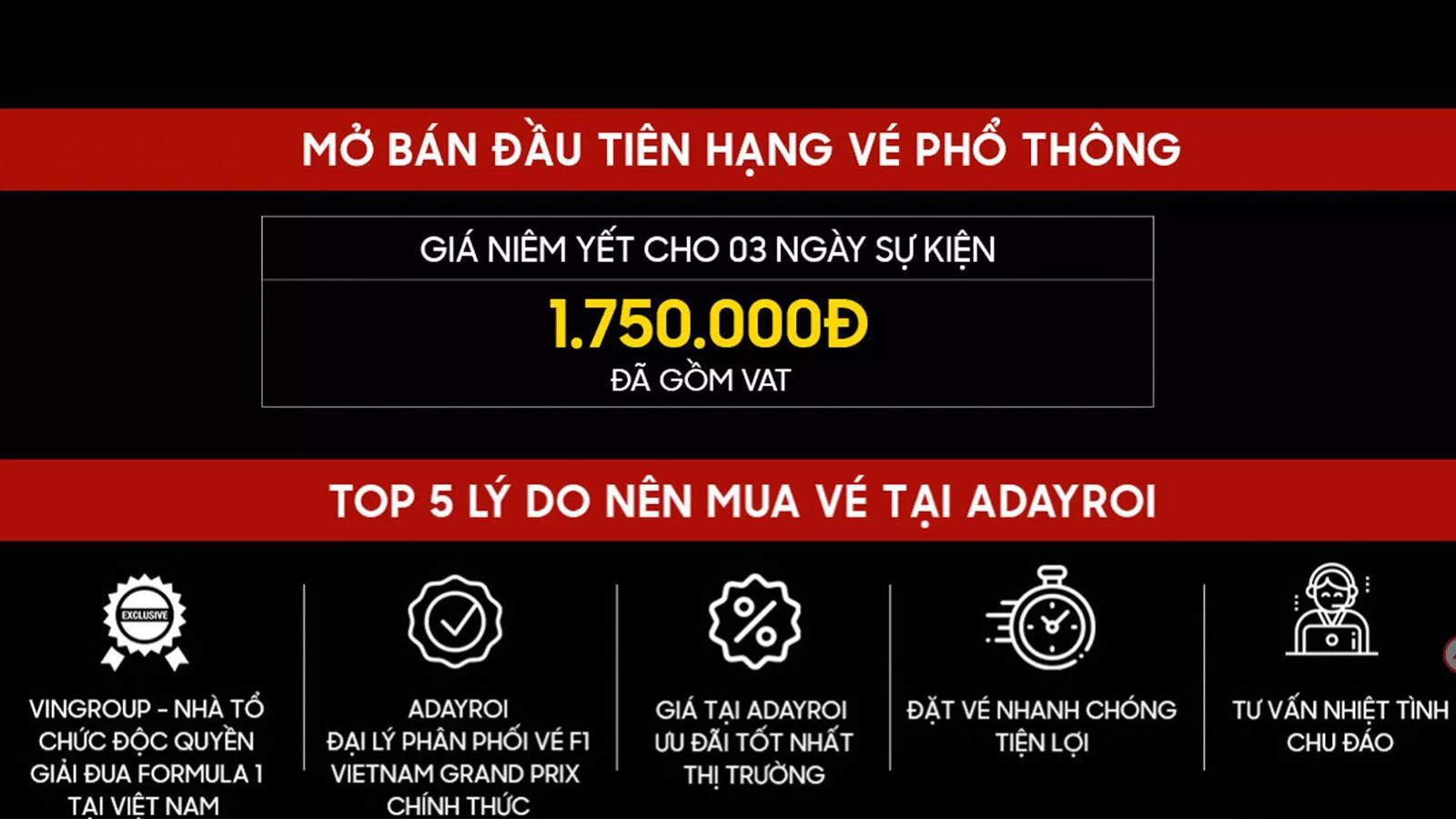 Công bố giá vé xem đua xe F1 tại Hà Nội, hạng phổ thông nhiều người mua được Ảnh 3