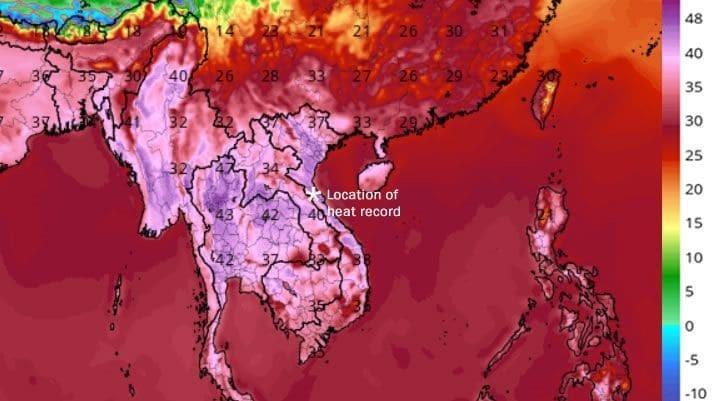 Nắng nóng phá vỡ mọi kỷ lục ở Việt Nam lên báo Mỹ Ảnh 1