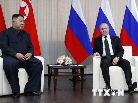 Thượng đỉnh Nga-Triều: Hai nhà lãnh đạo tiến hành hội đàm kín ảnh 1