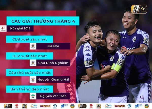 Quang Hải vs Văn Toàn: Ai xứng đáng xuất sắc nhất tháng 4? Ảnh 1