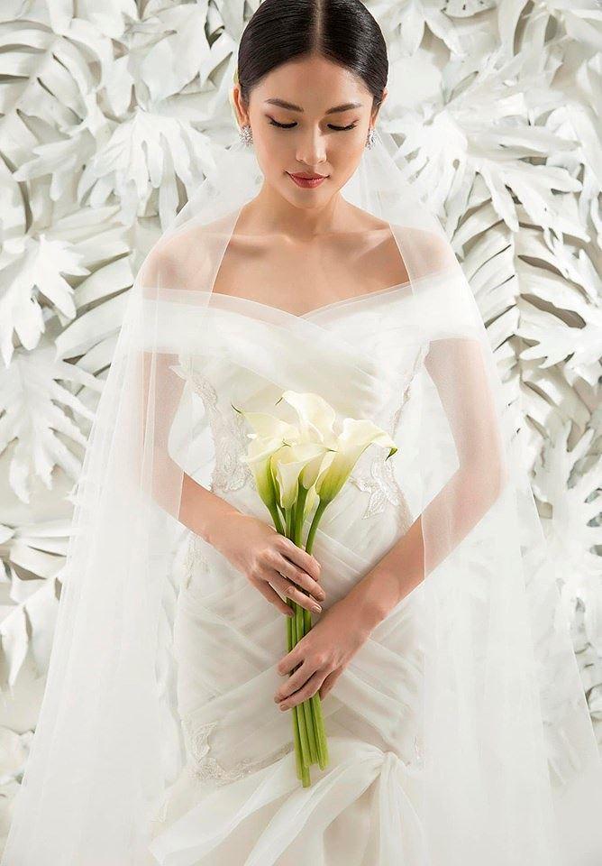 Sau khi công khai bạn trai, Á hậu Thùy Dung gợi cảm với váy cưới xuyên thấu Ảnh 10