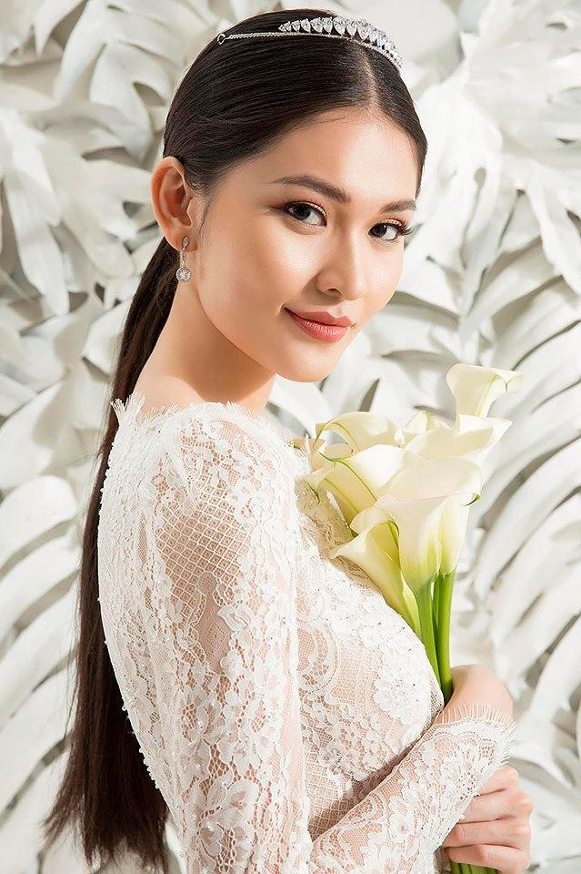Sau khi công khai bạn trai, Á hậu Thùy Dung gợi cảm với váy cưới xuyên thấu Ảnh 1