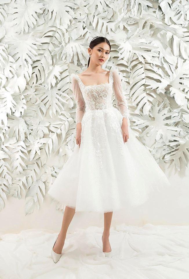 Sau khi công khai bạn trai, Á hậu Thùy Dung gợi cảm với váy cưới xuyên thấu Ảnh 7