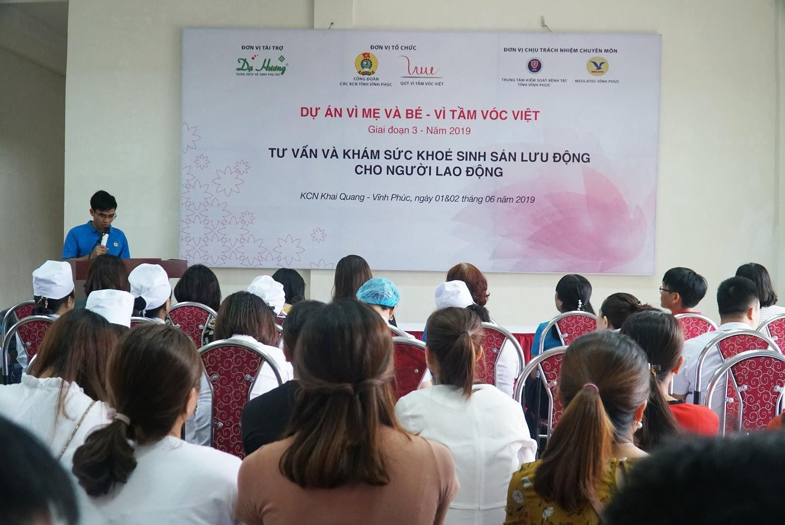 Nữ lao động tại Vĩnh Phúc được khám sức khỏe sinh sản miễn phí Ảnh 1