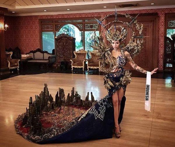 Vừa lên sóng, trang phục dân tộc dành cho Hoàng Thùy bị fan Việt và Indonesia tố đạo nhái ý tưởng Ảnh 4