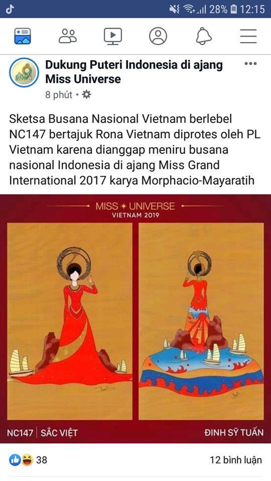 Vừa lên sóng, trang phục dân tộc dành cho Hoàng Thùy bị fan Việt và Indonesia tố đạo nhái ý tưởng Ảnh 2