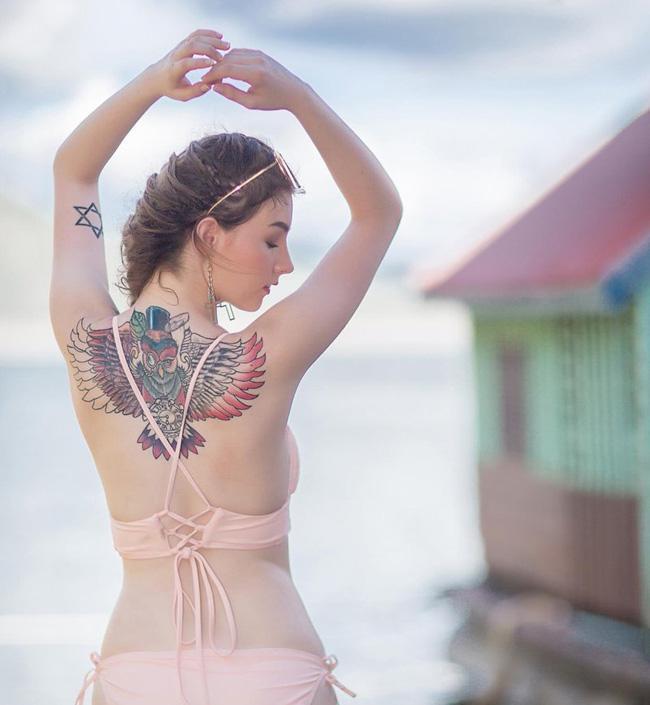 2 'thánh nữ xăm mình' Thái Lan, Brazil: Da trắng như bông bưởi vẫn để 'dính mực' Ảnh 13