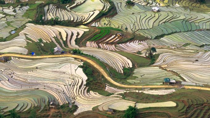 Mùa nước đổ đẹp như tranh ở Lào Cai Ảnh 1