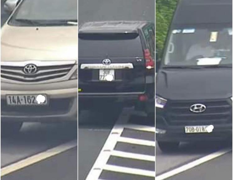 Xử phạt hàng loạt xe ôtô đi lùi trên cao tốc Ảnh 1