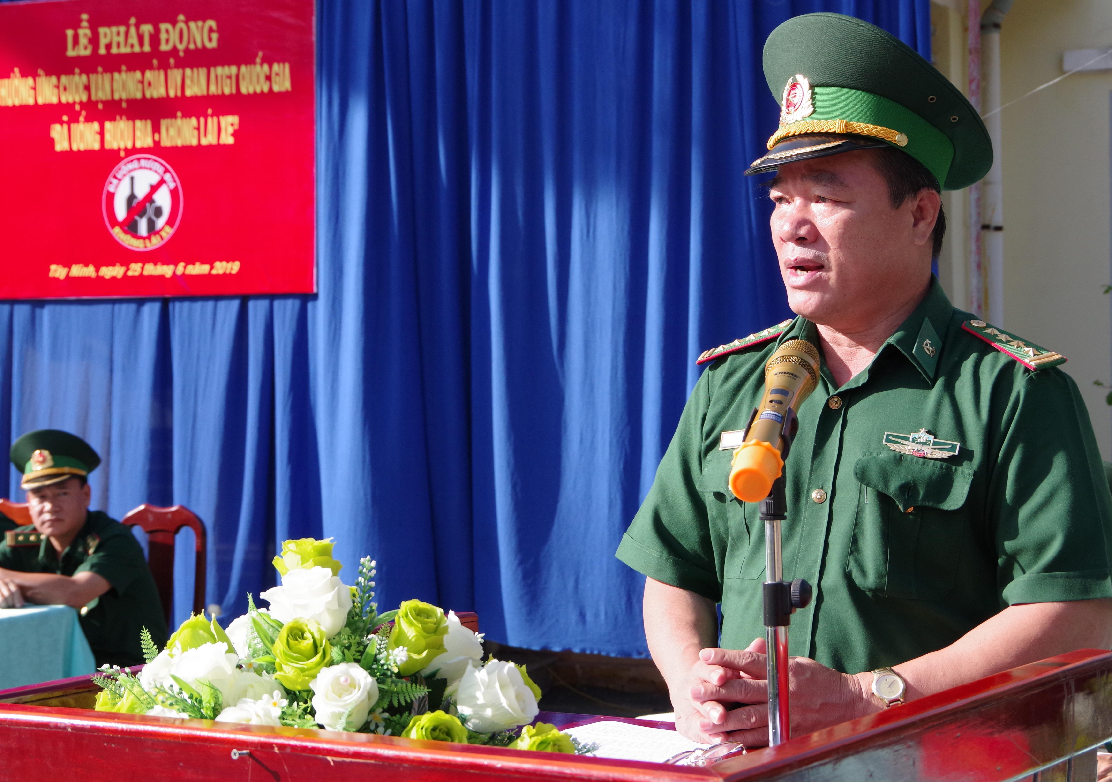 BĐBP Tây Ninh phát động hưởng ứng cuộc vận động 'Đã uống rượu bia - Không lái xe' Ảnh 1