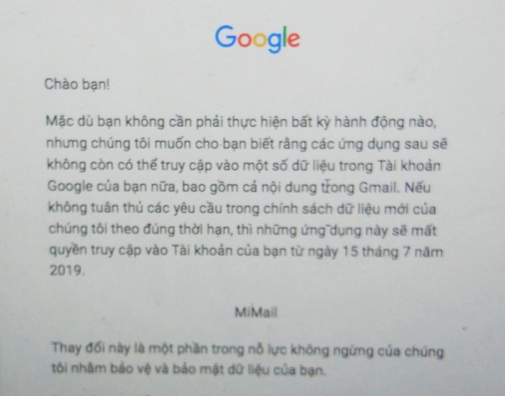Người dùng Xiaomi ở Việt Nam bị Google chặn ứng dụng Gmail? Ảnh 1