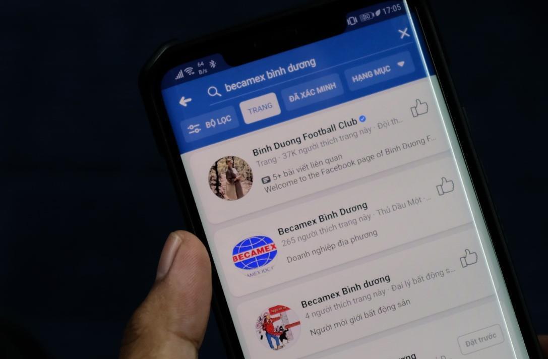 Giả giấy tờ tạo Facebook CLB Becamex Bình Dương bán 65 triệu đồng Ảnh 1