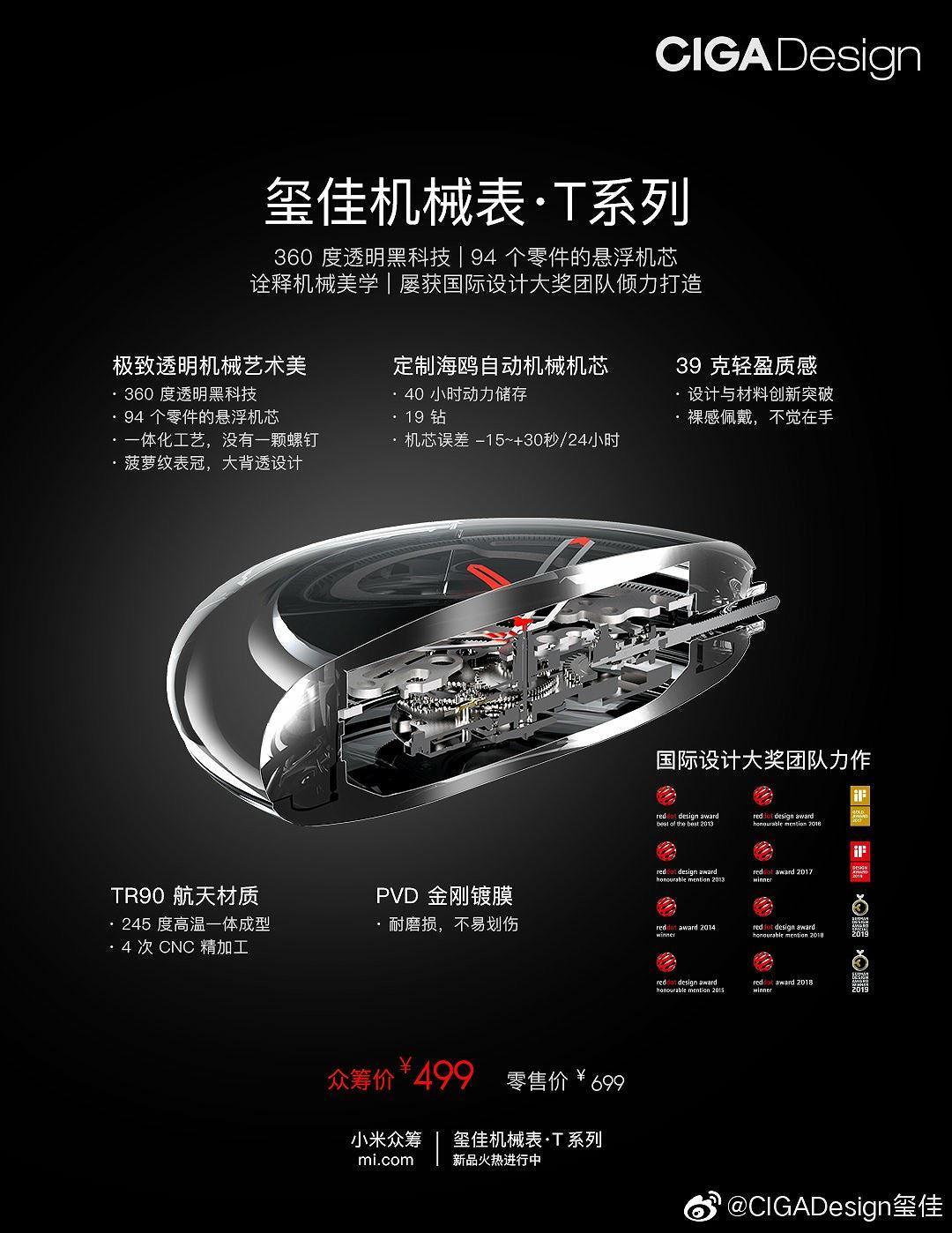 Xiaomi gây quỹ cho chiếc đồng hồ cơ T-series CIGA Design giá 72 USD Ảnh 3