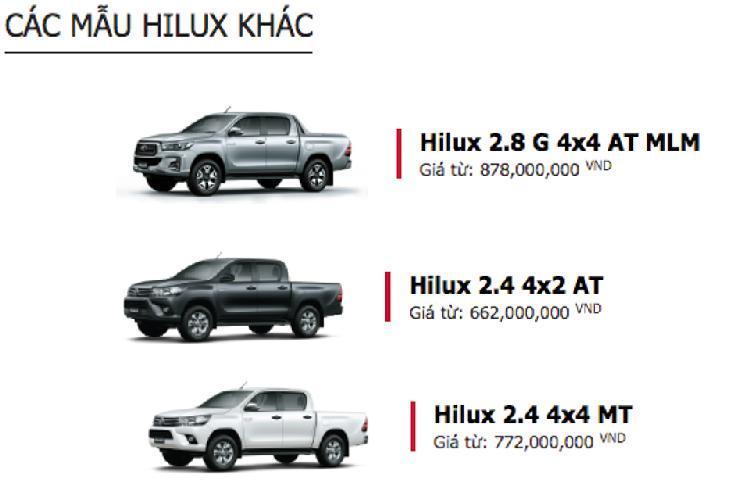 Toyota Hilux giảm giá 30 triệu, thêm phiên bản 1 cầu Ảnh 2