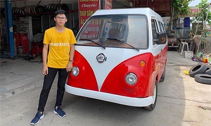 Nam sinh cấp 3 lắp ráp ôtô điện dáng Volkswagen ở Nam Định Ảnh 4