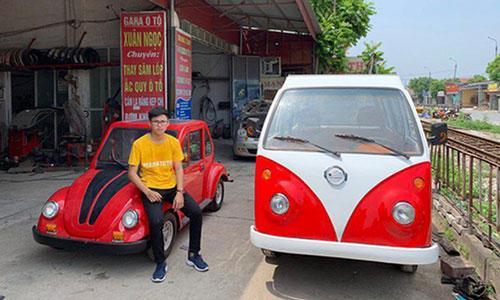 Nam sinh cấp 3 lắp ráp ôtô điện dáng Volkswagen ở Nam Định Ảnh 1