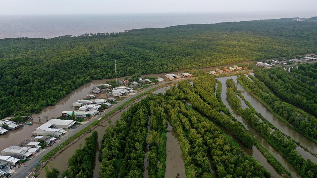 Đất mũi Cà Mau xanh mướt từ từ flycam: Nơi đất biết nở, nơi rừng biết đi Ảnh 9